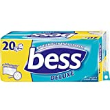 Bess Pack de 20 rouleaux de papier toilette Deluxe