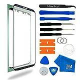 MMOBIEL Front Glas Reparatur Set für Samsung Galaxy S8 Plus G955 Series 6.2 Inch (Schwarz) Display Touchscreen mit 11 tlg. Werkzeug-Set inkl passgenauem Klebe-Sticker / Pinzette / Saugnapf / Metall Draht / Tuch