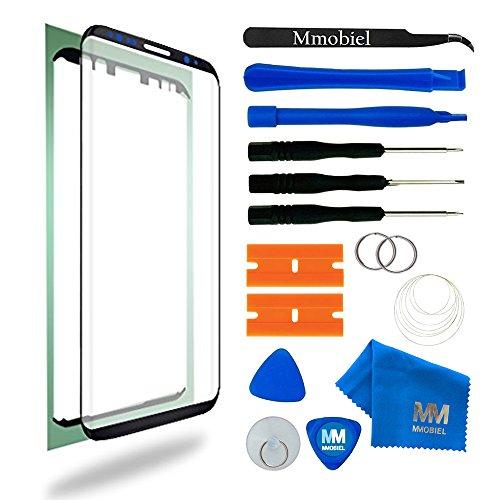 MMOBIEL Front Glas Reparatur Set kompatibel mit Samsung Galaxy S8 G950 Series 5.8 Inch (Schwarz) Display mit Werkzeug