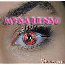 """Lente de contacto de color fantasía Crazy Lens Cosplay """"Mysa Lens®"""" ojos Naruto Sharingan Kakashi 12meses sin Correction"""