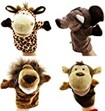 Caleson Zoo Friends Hand Puppets (Set of 4)(Big Movable Mouths)