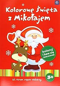 Interdruk MAA4KS - Cuaderno de Colorear (A4, 16 Pegatinas, 2 diseños: el muñeco de Nieve y el Papá Noel