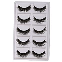MagiDeal 5 Pairs Thick Messy Cross False Eyelashes Makeup Beauty Natural Eye Lashes W