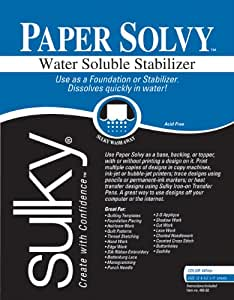 """Papier Solvy Eau Soluble Stabilisateur-8-1/2 """"X 11"""" 12/Pkg"""