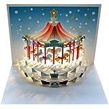 Forever Cards - Biglietto di auguri di Natale con giostra pop-up
