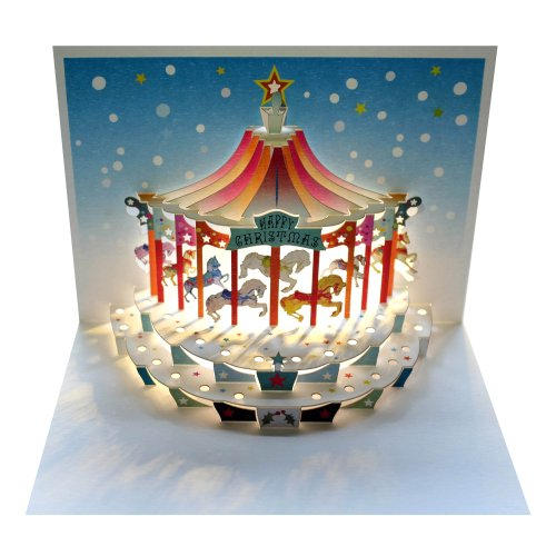 Forever Cards Christmas Carousel Pop-up Card