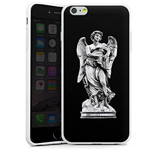 Apple iPhone X Silikon Hülle Case Schutzhülle Engel Statue Angel Silikon Case weiß