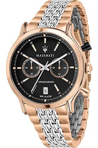 Maserati Legend Reloj para Hombre Analógico de Cuarzo con Brazalete de Acero Inoxidable bañado en Oro R8873638005