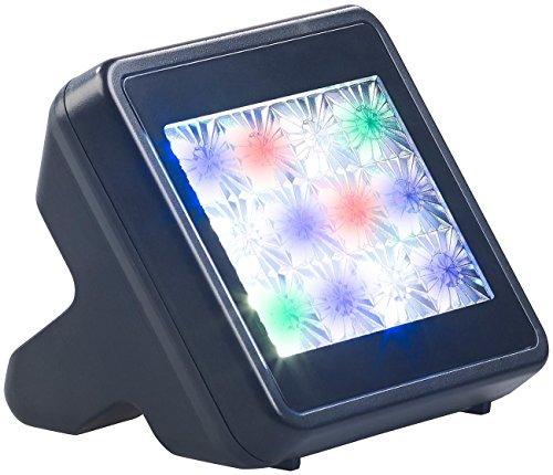 VisorTech Fernsehimitator: TV-Simulator zur Einbrecher-Abschreckung mit 12 LEDs inkl. Netzteil (TV Atrappe)