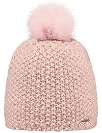 44721a67f81f BARTS - Bonnet pompon imitation fourrure rose tendre Enfant Fille 3 au 10 ans  Barts