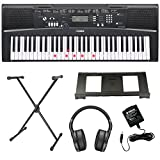 Yamaha EZ-220 Key Lighting Keyboard including AC Adapter, Westmount® Stand, Headphones and Free