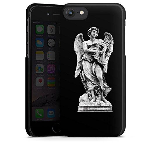 Apple iPhone X Silikon Hülle Case Schutzhülle Engel Statue Angel Hard Case schwarz