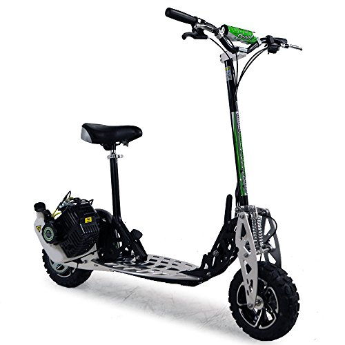 Funbikes Uber Scoot 2x Trottinette A Essence Grande Roue Ideal Pour Des Terrains Accidenteshors Piste 71 Cc