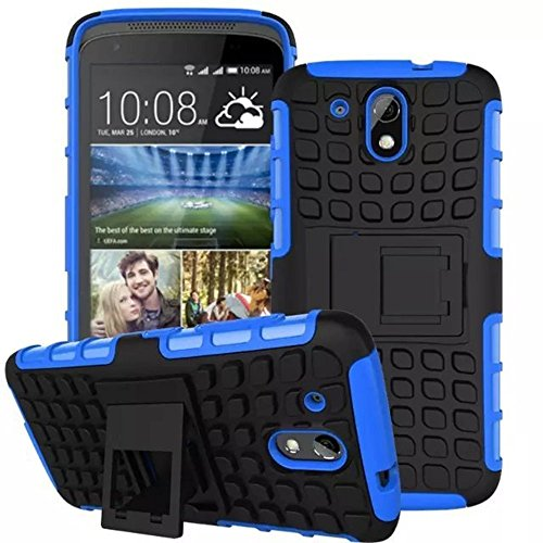 Dashmesh Shopping Hybrid case for HTC Desire 526G+, Shock Proof Protective Rugged Armor Super Hybrid Heavy Duty Back Case Cover for HTC Desire 526G+ - Royal BLUE