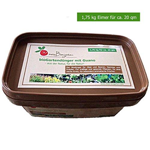 Bio-Dünger mit Guano (optimal für Home-Gardening) –als Gemüse-Dünger, Kräuter-Dünger und Obst-Dünger sorgt der Pflanzen-Dünger für ein langzeitiges Wachstum (N-P-K Verhältnis von 8:4:6) - Größen: 0,6, 1,75 und 4 kg