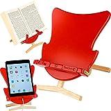 Porte-livre-pour-iPad-ou-iPad-air-et-Livres-Chevalet-pour-Livre-Porte-Livre-de-Cuisine-Pupitre-de-Lecture-Accessoire-Chaise-uf-Rouge-pour-la-Maison-le-Bureau-ou-la-Lecture-au-Lit-Support-pour-Livre
