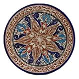 Etnico Arredo Assiette Murale céramique portée Service Set déco Terre Cuite Peint à la Main Artisanat marocain Ethnique Maroc 1709181245
