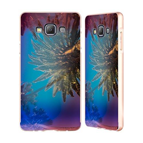 Ufficiale Elena Kulikova Palme Della California Tropicale Oro Cover Contorno con Bumper in Alluminio per Samsung Galaxy A7
