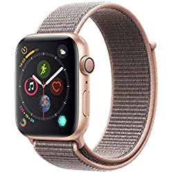 Apple Watch Series 4 (GPS) 44 mm Aluminiumgehäuse, gold, mit Sport Loop, sandrosa Apple Watch