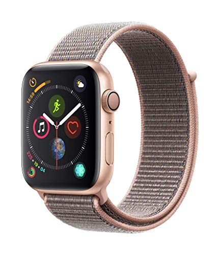 mayor descuento materiales superiores última moda Apple Watch Series 4 (GPS) con caja de 44 mm de aluminio en oro y correa  Loop deportiva rosa arena