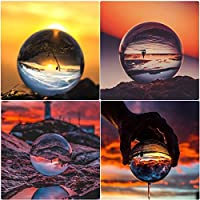 Homgrace K9 Bola de Cristal Diáfana 80mm para Fotografía Decoración Meditación