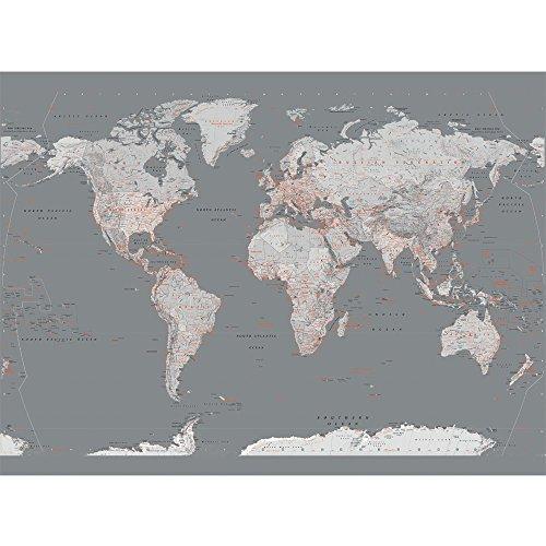 1Wall Weltkarte Riesige Wandbild (Map Wandbild World Giant)