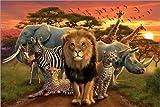 Posterlounge Acrylglasbild 30 x 20 cm: Afrikanische Tiere von Andrew Farley/MGL Licensing - Wandbild, Acryl Glasbild, Druck auf Acryl Glas Bild