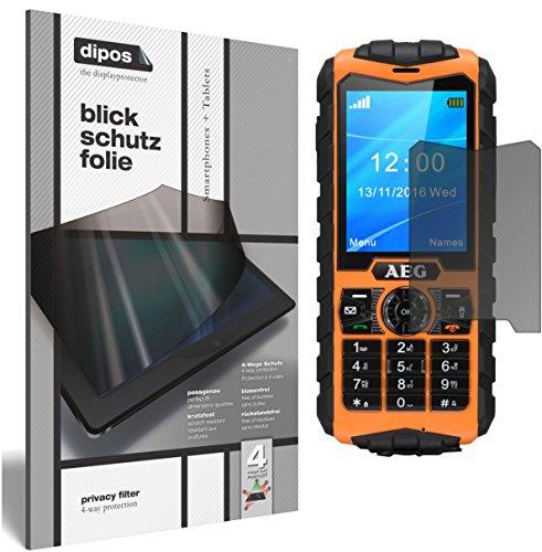 dipos I Blickschutzfolie matt passend für AEG M550 Sichtschutz-Folie Bildschirm-Schutzfolie Privacy-Filter