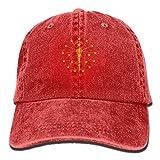 Rogerds Indiana State Flag Torch Logo Baseball Hat Men Women Summer Sun Hat Travel Sunscreen Cap Fishing Outdoors