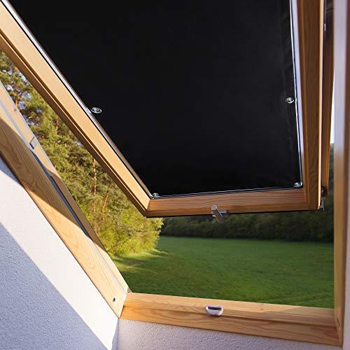 60 * 115cm Dachfensterrollo für Velux Dachfenster M08 308 verdunkelndes Rollo mit Versilberte Rückseite ohne Bohren mit Säugnapf Verdunkelungsrollo aus Polyester