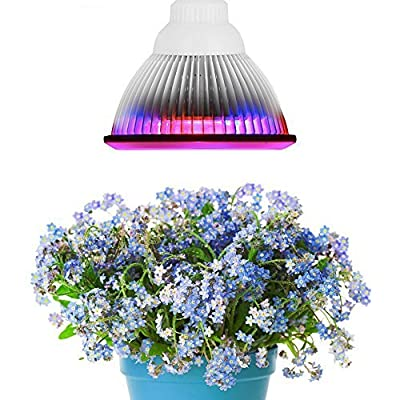 XJLED E27 Hydroponic LED Grow Light Plant Grow Lights Growing Lamp For Garden Greenhouse (12w, 3 Bands - 660nm, 630nm Red and 460nm Blue)