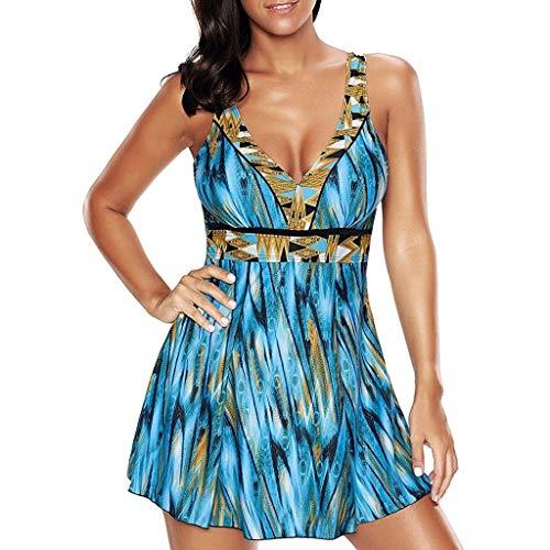 30907b1d0fa hmtitt Women Plus Size Bikini Set, Brazilian Floral Print Tankini High  Waisted Split Swimsuit Swimjupmsuit