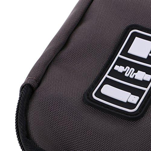 Gazechimp Aufbewahrungstasche Kabel Organizer Reißverschluss-Beutel Hülle Ideal für Reisen - Grau