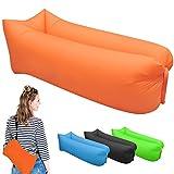 Cuscino gonfiabile, materassini portatili per viaggi, campeggio, spiaggia, parco, giardino., Orange