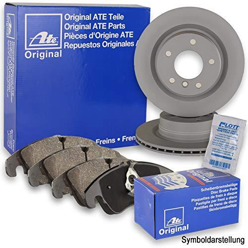 Original ATE Bremsscheiben hinten + ATE Bremsbeläge Bremsklötze Bremsenset Bremsenkit Komplettset Hinterachse