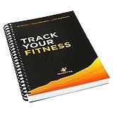 Le carnet de séance d'entraînement et fitness Journal: conçu par des Experts, w/illustrations: Track Club de gym, bodybuilding, et sur le Progrès de Crossfit: robuste de reliure, épais, Pages et laminé, laminé protégé Coque