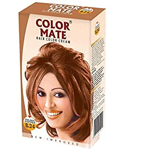 Color Mate Hair Color Cream, Golden Copper, 130ml (Pack of 2)