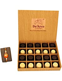 DEARCO CHOCOLATIER CHOCOLATE GIFT BOX, RAKHI CHOCOLATE For BROTHER, Luxury Rakhi Gift, PREMIUM RAKHI GIFT CHOCOLATES... - B073ZMMHXB