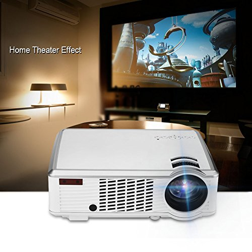 VBESTLIFE  HD Projector  HiFi SRS Audio Projector  VGA HDMI USB Audio Video Ports Home Theater Projector   4 3 16 9 screen   2000LM LED DVBT ATSC Signal uk