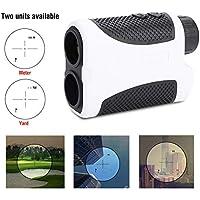 GOTOTOP Golf Entfernungsmesser, tragbar, 400 m, 6-fache Vergrößerung, Scope, Neigungsausgleich mit Taschen-Entfernungsmesser