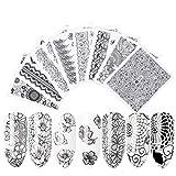 Autoadesivi delle decalcomanie dell'acqua del chiodo Autoadesivi delle decalcomanie di trasferimento di arte del chiodo di carta Decorazione di progettazione del chiodo di arte del chiodo di carta