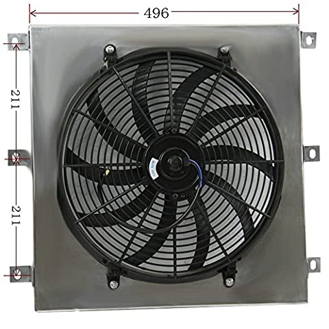 ALLOYWORKS Aluminum Radiator Shroud Fan For 1947-1954 CHEVY TRUCK PICKUP