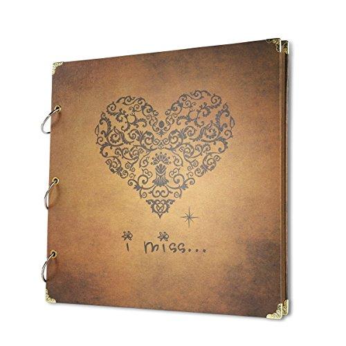 VStoy DIY Scrapbook Fotoalbum Spiralalbum Notizbuch Vintage Ringbuch Löwenzahn Fotoalbum (✮2)
