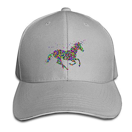 5328c784d781 Fitty area Cool Rainbow Unicorn Adjustable Sandwich Baseball Cap Hat For  Unisex Ash Ash