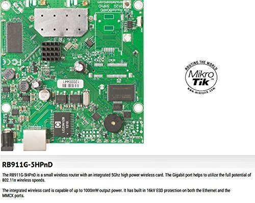 Lan Cpu (Mikrotik - RB911G-5HPnD, RouterBOARD 911G with 600Mhz Atheros CPU, 32MB RAM, 1xGigabit LAN by Mikrotik)