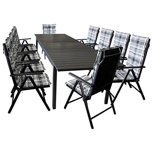 Wohaga Set Alu 10+1 mit ausziehbarem Tisch