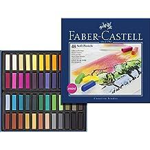 Faber-Castell 128248 - Estuche de cartón con 48 tizas pastel, mini, multicolor