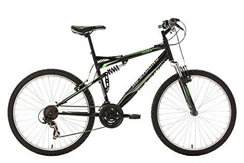 KS Cycling Fahrrad Mountainbike MTB Fully Paladin RH, Schwarz-Grün, 26 Zoll, 333M