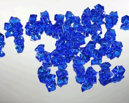 1 X Translucent Royal Blue Acrylic Ice Rocks for Vase Fillers or Table Scatters by Modern Vase & Gift Ice Blue Vase