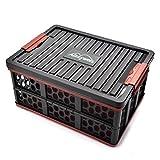 QXXZ Zusammenklappbarer Kofferraum Organisator und Aufbewahrungsbox, Perfekt Für SUV, Auto, Fahrzeug, Familienwagen, Reisen und Camp (Schwarz)
